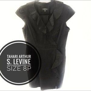 ❇️Tahari ASL little black ruffled dress